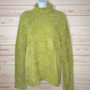 White Stag Green Pullover Turtleneck Sweater 16/18